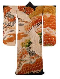 Crane kimono